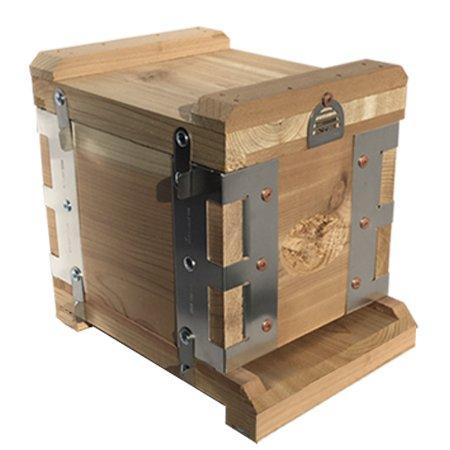 Eco-Bee-Box-Mini-Bee-Hive-1-Box-Hive-Stack-Aluminum-Brackets-0