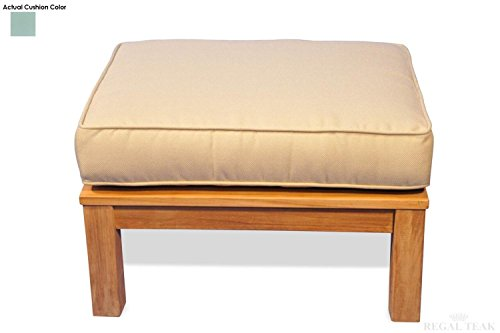 Eco-Friendly-Furnishings-2775-Natural-Teak-Deep-Seating-Outdoor-Patio-Ottoman-with-Spa-Green-Cushion-0
