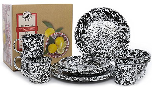Enamelware-16-Piece-Dinnerware-Starter-Set-by-Crow-Canyon-0