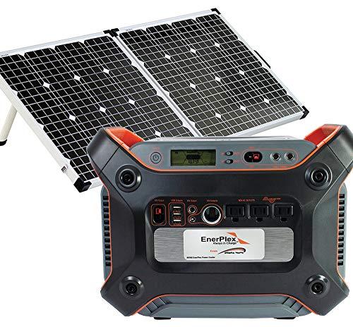 EnerPlex-1200-Solar-Battery-Generator-Kit-with-120W-Mono-crystalline-Solar-Collector-1000W-Pure-Sine-Wave-Inverter-Anderson-M4-Connector-0