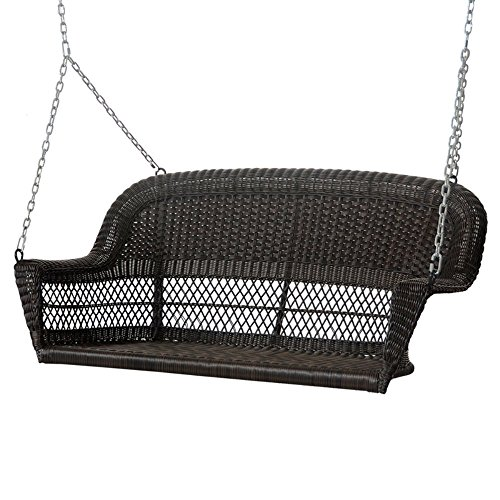 Espresso-Resin-Wicker-Porch-Swing-with-Cushion-0