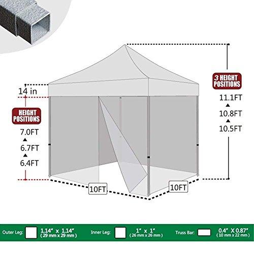 Eurmax-Basic-10×10-Ez-Pop-up-Canopy-Screen-Houses-Shelter-Commercial-Tent-Mesh-Walls-Roller-Bag-0-0