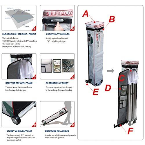 Eurmax-Basic-10×10-Ez-Pop-up-Canopy-Screen-Houses-Shelter-Commercial-Tent-Mesh-Walls-Roller-Bag-0-2