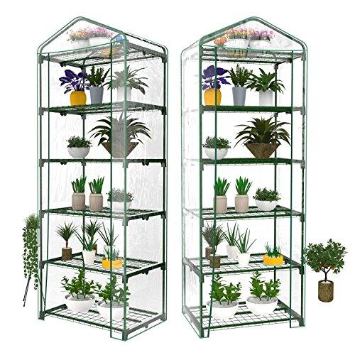 Evokem-5-Tier-Mini-Plants-Greenhouse-Reinforced-Replacement-PVC-Cover-Garden-Plants-Greenhouse-US-Stock-0