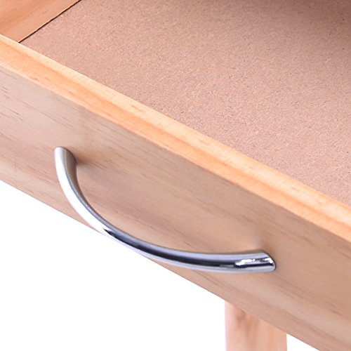 FDInspiration-263-Rolling-Pine-Wood-Kitchen-Trolley-Cart-Pull-Out-ShelveswStorage-Drawers-0-2