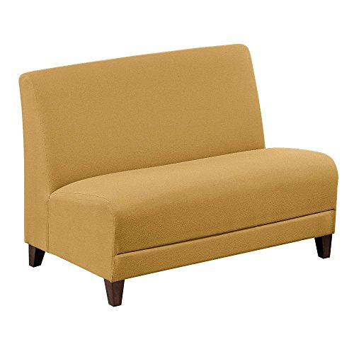 Fabric-Armless-Loveseat-44W-Gold-FabricWalnut-Finish-Dimensions-44W-x-295D-x-325H-Seat-Dimensions-44Wx19Dx18H-Back-Dimensions-44Wx18H-Weight-80-lbs-0