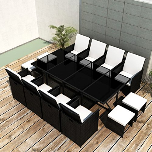Festnight-33-Piece-Patio-Outdoor-Rattan-Dining-Set-Black-0-0