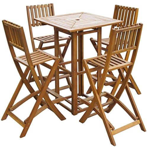 Festnight-5-Piece-Outdoor-Patio-Bar-SetOutdoor-Bistro-Set-Acacia-Wood-0