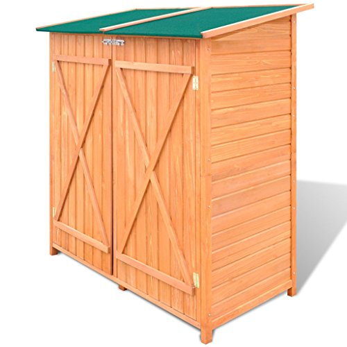 Festnight-Garden-Wooden-Tool-Storage-Shed-Waterproof-Utility-Tools-Organizers-with-Lockable-Doors-543-x-258-x-63-Pine-Wood-0-1