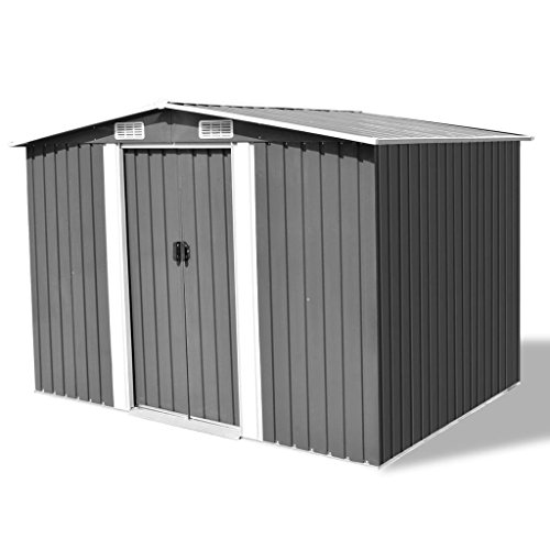 Festnight-Outdoor-Garden-Storage-Shed-Gray-Metal-1012-x-807-x-701-0