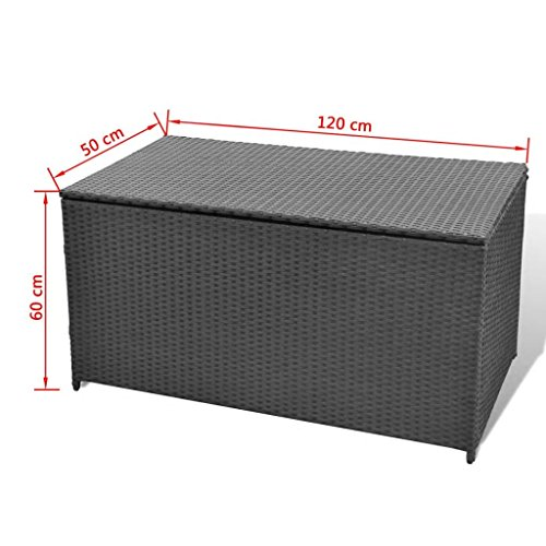 Festnight-Outdoor-Patio-Garden-Wicker-Storage-Chest-for-Cushions-Pillows-Pool-Accessories-Poly-Rattan-0