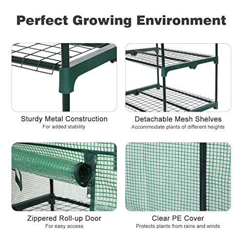 Finether-Greenhouse-with-Clear-Cover-and-Casters-0-0