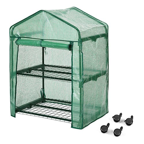 Finether-Greenhouse-with-Clear-Cover-and-Casters-0