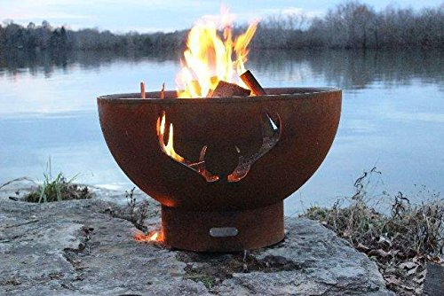 Fire-Pit-Art-Antlers-Wood-Fire-Pit-0