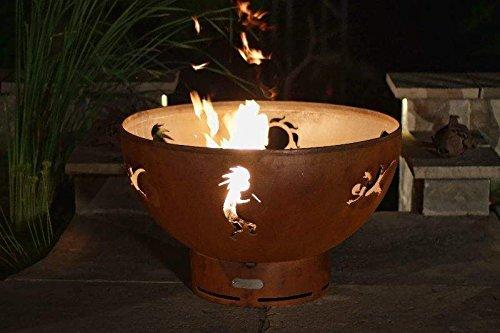 Fire-Pit-Art-Kokopelli-Fire-Pit-Electronic-Ignition-Propane-0