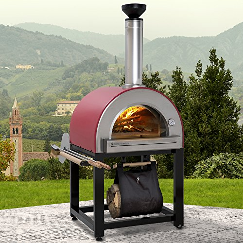 Forno-Venetzia-FVP300R-Pronto-300-Red-Outdoor-Pizza-Oven-0-2