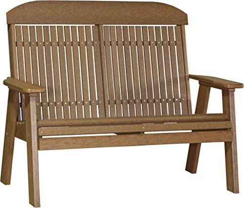 Furniture-Barn-USA-4-Poly-Classic-Highback-Bench-Wood-Grain-0
