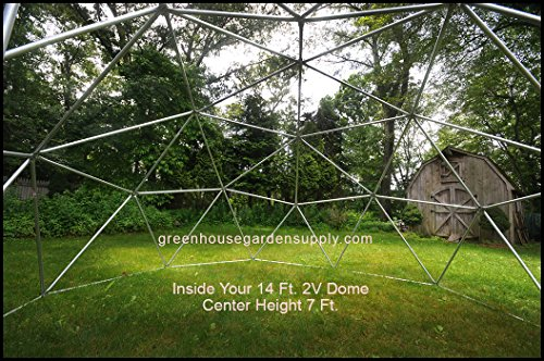 GEODESIC-DOME-14-Ft-Frame-Only-Greenhouse-for-Aquaponics-0