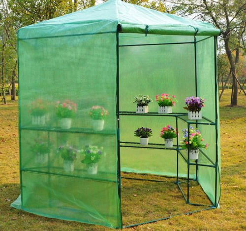 GHP-Dark-Green-785-x-825H-Greenhouse-w-Powder-Coated-Steel-Frame-0-1
