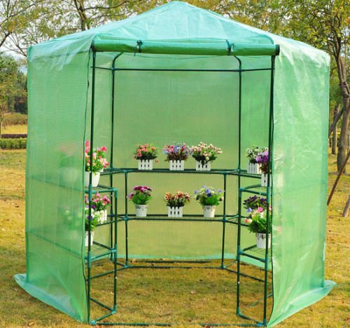 GHP-Dark-Green-785-x-825H-Greenhouse-w-Powder-Coated-Steel-Frame-0