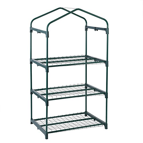 GLOGLOW-3-Tiers-Reinforced-Iron-Self-Frame-for-Portable-Greenhouse-Cover-Garden-Mini-Greenhouse-Iron-Stand-Flower-Pot-Stand-Self-69-x-49-x-126cm2717-x-1929-x-4961-inch-0-0