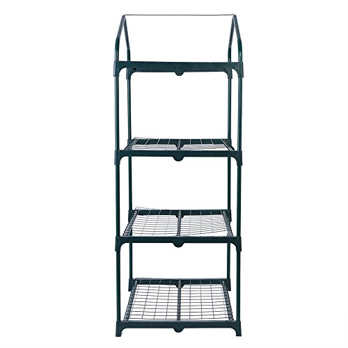 GLOGLOW-3-Tiers-Reinforced-Iron-Self-Frame-for-Portable-Greenhouse-Cover-Garden-Mini-Greenhouse-Iron-Stand-Flower-Pot-Stand-Self-69-x-49-x-126cm2717-x-1929-x-4961-inch-0-1