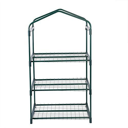 GLOGLOW-3-Tiers-Reinforced-Iron-Self-Frame-for-Portable-Greenhouse-Cover-Garden-Mini-Greenhouse-Iron-Stand-Flower-Pot-Stand-Self-69-x-49-x-126cm2717-x-1929-x-4961-inch-0