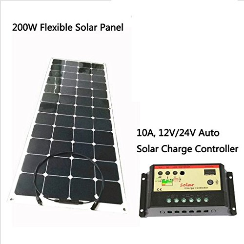 GOWE-flexible-solar-panel-200w-18VDC-monocrystalline-solar-cell-with-1M-connection-wire-charge-12V-battery-0