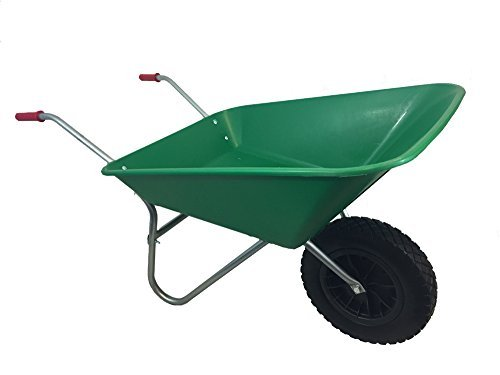 GREEN-PLASTIC-WHEELBARROW-WITH-PUNCTURE-PROOF-PU-WHEEL-by-THREE-WAY-PRESSINGS-0