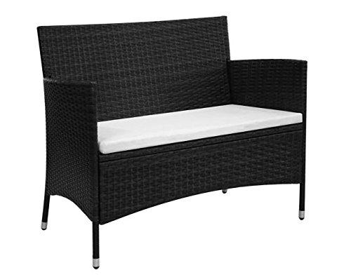Garden-Bench-Poly-Rattan-Outdoors-Garden-Patio-Comfortable-Lightweight-Thick-Powder-Coated-Steel-Frame-PE-Rattan-417x236x33-Black-SKB-Family-0