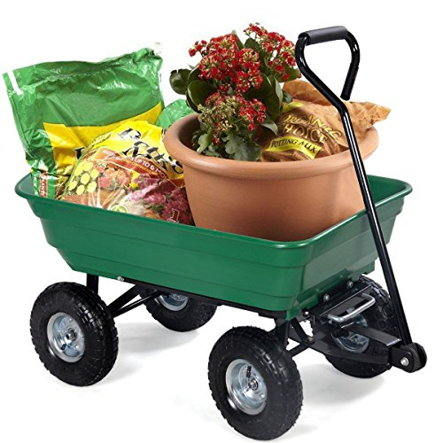 Garden-Dump-Cart-Dumper-Wagon-Carrier-Wheelbarrow-With-Ebook-0-0
