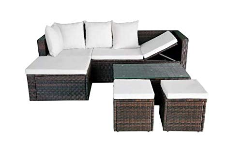 Garden-Lounge-Set-12-Pieces-Poly-Rattan-Brown-Stylish-Garden-Comfortable-Furniture-Waterproof-Outdoor-PE-Rattan-Powder-Coated-Steel-Frame-Glass-Tabletop-736-x-469-x-228-SKB-Family-0-1