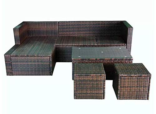 Garden-Lounge-Set-12-Pieces-Poly-Rattan-Brown-Stylish-Garden-Comfortable-Furniture-Waterproof-Outdoor-PE-Rattan-Powder-Coated-Steel-Frame-Glass-Tabletop-736-x-469-x-228-SKB-Family-0-2