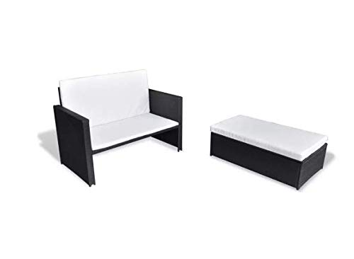 Garden-Sofa-Set-Five-Pieces-Poly-Rattan-Black-Space-Sturdy-Lightweight-Outdoors-Furniture-Waterproof-Powder-Coated-Steel-Frame-PE-Rattan-484-x-46-x-26-SKB-Family-0