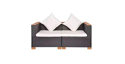 Garden-Sofa-Set-Six-Pieces-Poly-Rattan-WPC-Top-Black-Durable-Comfyleads-0-0