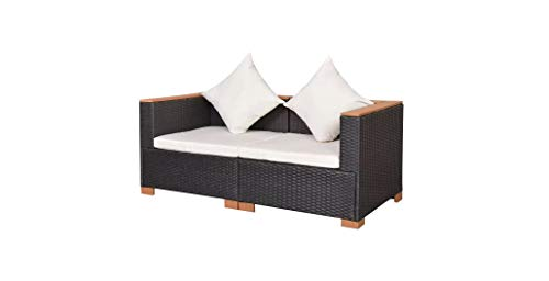 Garden-Sofa-Set-Six-Pieces-Poly-Rattan-WPC-Top-Black-Durable-Comfyleads-0-1