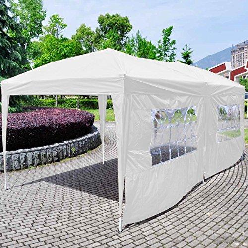 Giantex-10×20-Ez-POP-up-Wedding-Party-Tent-Folding-Gazebo-Beach-Canopy-Wcarry-Bag-White-0-0