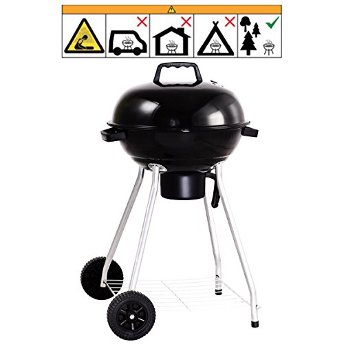 Giantex-Kettle-Charcoal-Grill-wWheels-Shelf-Temperature-Gauge-BBQ-Outdoor-Backyard-Cooking-Black-0-2
