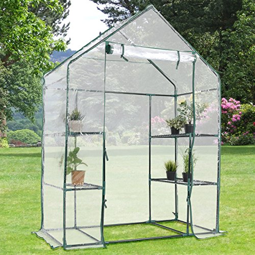 Giantex-Outdoor-Portable-Greenhouse-Multi-Tier-Shelves-Stands-Small-Shelving-Green-House-for-Herb-and-Flower-0-1