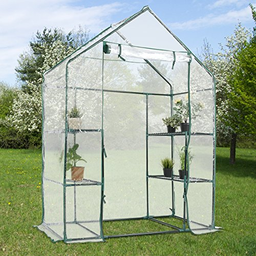 Giantex-Outdoor-Portable-Greenhouse-Multi-Tier-Shelves-Stands-Small-Shelving-Green-House-for-Herb-and-Flower-0-2