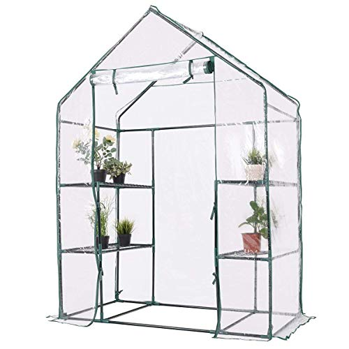 Giantex-Outdoor-Portable-Greenhouse-Multi-Tier-Shelves-Stands-Small-Shelving-Green-House-for-Herb-and-Flower-0