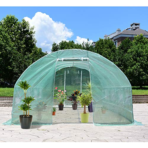 Giantex-Portable-Walk-in-Greenhouse-Plant-Grow-Tents-Steel-Frame-Garden-Backyard-Outdoor-Gardening-Green-House-wWindows-Doors-0-0