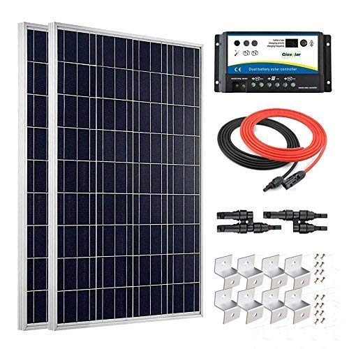 Giosolar-200-Watt-12-Volt-Polycrystalline-Solar-Panel-Kit-with-PWM-20A-Dual-Battery-Charge-Controller-for-RV-Boat-Off-Grid-System-0