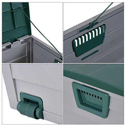 Globe-House-Products-GHP-44x20x22-Gray-Green-7-Gallon-Capacity-Patio-Garage-Deck-Storage-Bench-0