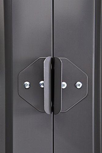 Globel-GL1009-Gable-Outdoor-Storage-Shed-Slate-GrayAluminum-White-0-2