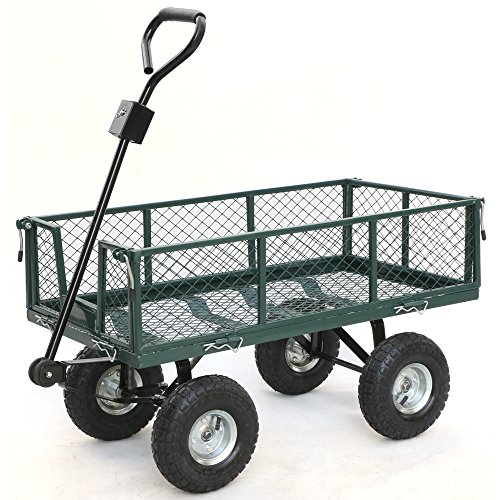 Gotobuy-Green-Garden-Utility-Cart-Wagon-Steel-0