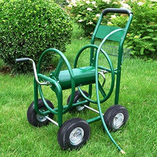 Gracelove-Garden-Water-Hose-Reel-Cart-300FT-Outdoor-Heavy-Duty-Yard-Planting-WBasket-New-0-0