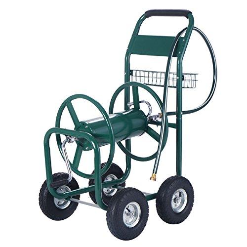 Gracelove-Garden-Water-Hose-Reel-Cart-300FT-Outdoor-Heavy-Duty-Yard-Planting-WBasket-New-0