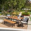 Great-Deal-Furniture-Belham-Outdoor-6-Piece-Teak-Finished-Acacia-Wood-Dining-Set-with-Multibrown-Wicker-Dining-Chairs-and-Crme-Water-Resistant-Cushions-0-0