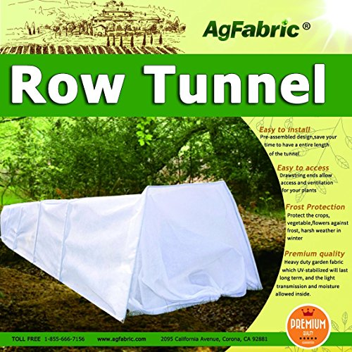 Grow-Tunnel-For-Plants-Windowed-Row-Tunnel-with-Ply-FilmPlant-Cover-Frost-Blanket-for-Season-Extension-and-Seed-Germination-Large-10ft-Longx-23Widex15High-0